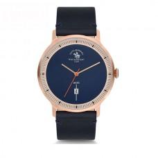 Ρολόι ανδρικό με δερμάτινο μπλέ λουράκι ΡΟΛΟΓΙΑBIJOUX-JEWELRY