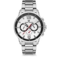 Ρολόι ανδρικό με λευκό καντράν και ασημί μπρασελέ ΡΟΛΟΓΙΑBIJOUX-JEWELRY