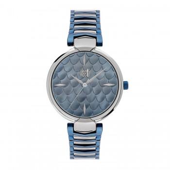 Ρολόι με μπρασελέ γαλάζιο ασημί