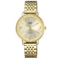 Γυναικείο ρολόι με ατσάλινο επίχρυσο μπρασελέ