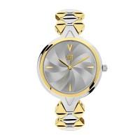 Ρολόι με μπρασελέ χρυσό ασημί