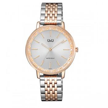 Γυναικείο ρολόι με μπρασελέ ασημί ροζ χρυσό ΡΟΛΟΓΙΑ